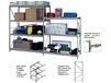 HEAVY-DUTY Z-BEAM STORAGE RACK  - OPTIONAL SHELVES & DECKS